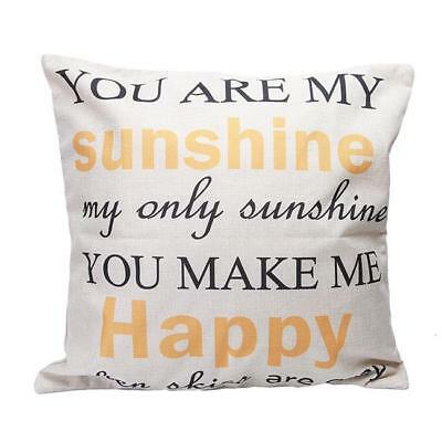 You Are My Sunshine Pillow Case Cotton Linen Cushion Cover Home Decor ONE • 3.57£