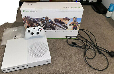 AU200 • Buy Microsoft Xbox One S 1TB White Console With All Original Items + 2 Games