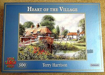 HEART OF THE VILLAGE - Terry Harrison - 500 Extra Large Pieces - JIGSAW PUZZLE • 5.99£