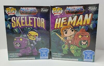$69.77 • Buy Funko - Masters Of The Universe - Pop & T-Shirt GITD Lot - Skeletor And He-Man