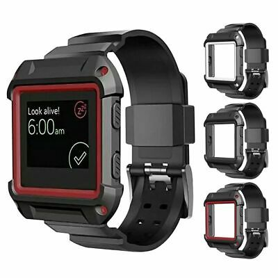 AU6.11 • Buy Rugged Protective Case With Silicone Wrist Strap Band For Fitbit Blaze Watch New