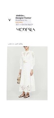 AU335 • Buy ZIMMERMANN Peggy Embroidered Linen Maxi Dress Size 0