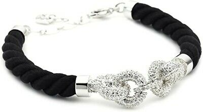 Genuine Brand New Ladies Woman SWAROVSKI NICE BLACK BRACELET GIFT JEWELLERY • 65£