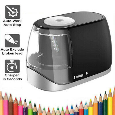 £9.89 • Buy Electric Pencil Sharpener Stationery Heavy-Duty 6-8mm Diameter USB Gifts Set