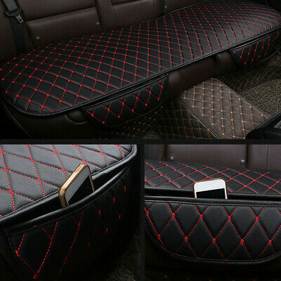 AU31.86 • Buy Car Auto Seat Cover Rear Cushion Black PU+Red Line Universal Fit Car Accessories
