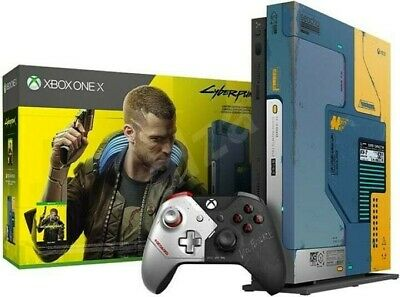 AU455 • Buy XBOX ONE X Cyberpunk 2077 Limited Edition Console - NEW SEALED - Game Included