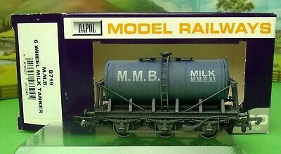 Dapol B719 MMB 6 Wheel Milk Tanker Blue Weathered Boxed OO(Z) • 14.99£