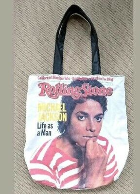 Michael Jackson Rolling Stone Magazine 1983 Life As A Man Cover Tote Bag Vintage • 11.82£