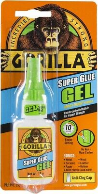 Gorilla Super Glue Gel Adhesive Bottle Extra Strong For Metal Wood Leather 15g • 4.50£
