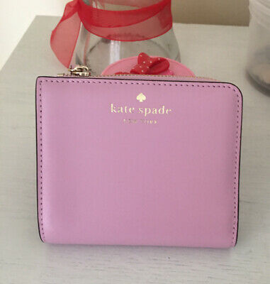 $ CDN51.02 • Buy New Kate Spade New York  Small L-zip Bifold Wallet Pink