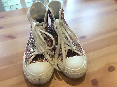 Converse Sequin High Tops Size 5.5 • 20£