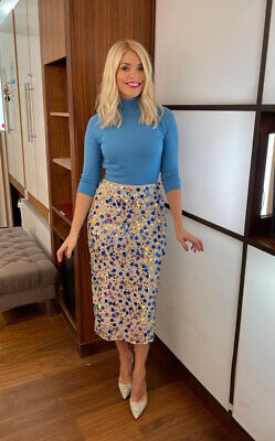 Holly Willoughby Asos Edition Sequin Midi Skirt Size 8 SOLD OUT • 64.50£