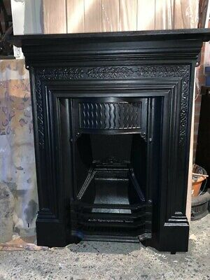 Victorian Cast Iron Fireplace With Decorative Canopy  • 185£