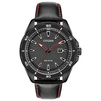 $76.99 • Buy Citizen Eco-Drive Men's Black Ion Plated Date Indicator 45mm Watch AW1585-04E
