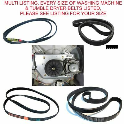 Washing Machine Drive Drum Belt Tumble Dryer Belt All Sizes Of Belts Listed • 6.99£