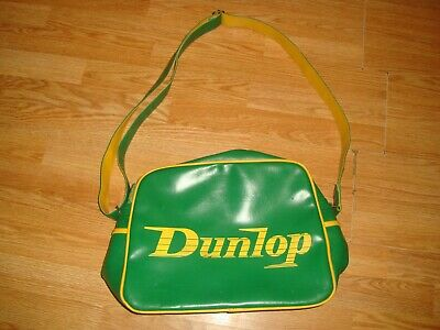 Dunlop Green&yellow Faux Leather  Messenger Style  Shoulder Bag • 2£