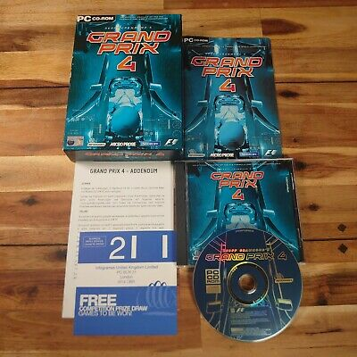 Geoff Crammond's GRAND PRIX 4 BOXED PC-CD F1 FORMULA 1 RACING FULLY COMPLETE • 19.95£