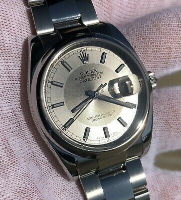 $ CDN7828.72 • Buy Rolex Datejust 36 Stainless Steel 116200 Concentric Silver - Smooth Dome -Oyster