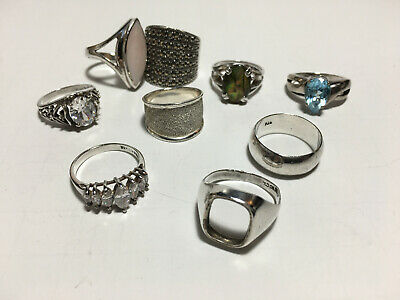 $ CDN71.18 • Buy Gorgeous Vintage Lot Of 9 Sterling Silver Rings All Marked 925