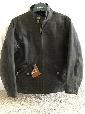 Barbour Boys Tartan Helmsdale Classic Jacket, Green. Brand New With Tags!! • 49.99£