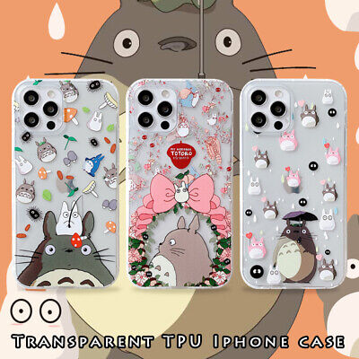 For IPhone 12 11 Pro Max XS XR 7 8+ Cute Cartoon Flower Totoro Rubber Phone Case • 3.82£