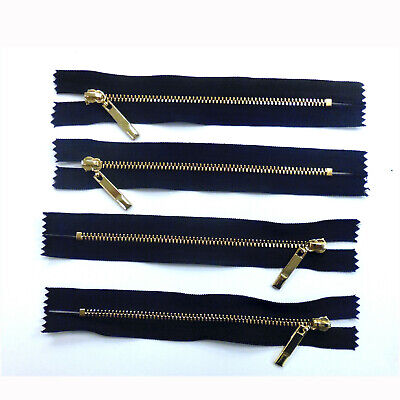 Closed End Job Lot Black  Metal Zips 5.5 Inches 14 Cms Various Quantity Packs • 3.99£