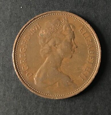 A Rare, 1p New Penny Coin 1971, Not One Pence As Is Common. • 130£