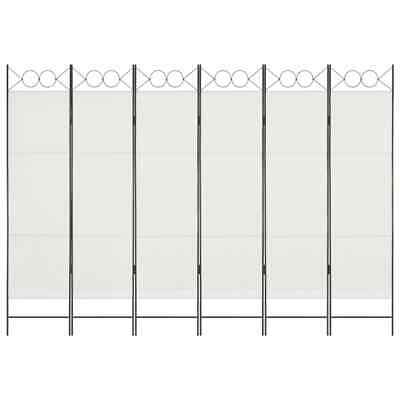 AU74.95 • Buy Room Divider 6 Panel Folding Decorative Fabric Screen Partition Freestanding