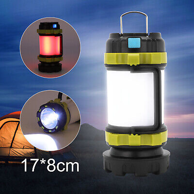 AU22.59 • Buy Rechargeable LED Camping Lantern Outdoor Tent Light Lamp & Power For Phone 1x