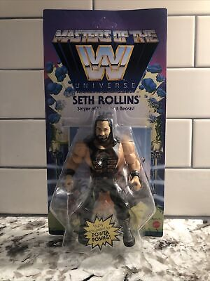 $32 • Buy New Seth Rollins Action Figure Masters Of The WWE Universe Motu Wave 4 Mattel