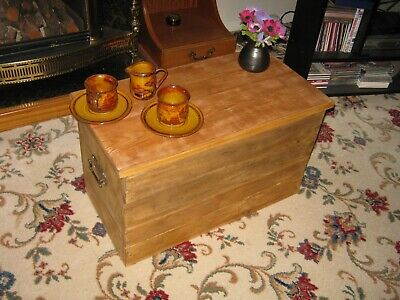 Wooden Storage Box Chest Trunk Coffee Table • 60£