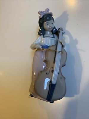 NAO By Lladro Porcelain Figurine ~ Girl With Cello • 1.04£