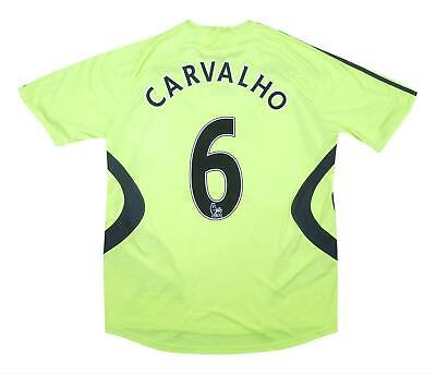 Chelsea 2007-08 Authentic Away Shirt Carvalho #6 (Very Good) L Soccer Jersey • 58.49£