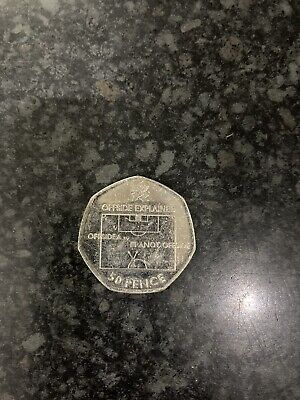 London 2012 50p Olympic Games Football Offside Rule RARE 2011 • 15£