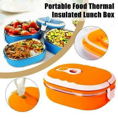 AU17.51 • Buy Kids Adults Food Warmer Thermo School Picnic Lunch Box Insulated Food Container