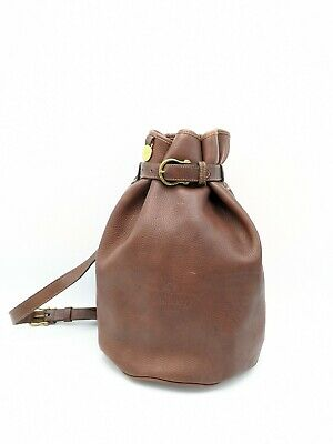 Mulberry Vintage Wexford Bucket /Duffle/Backpack Bag In Brown Leather  • 185£