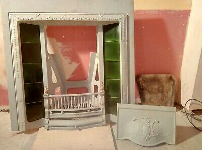 £200 • Buy Victorian / Edwardian  CAST IRON FIRE Surround With Tiles And Grating.