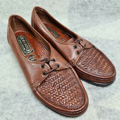 £40 • Buy Dubarry Leather Vintage Shoes Size 3 Lace Up Brown Weave Toe