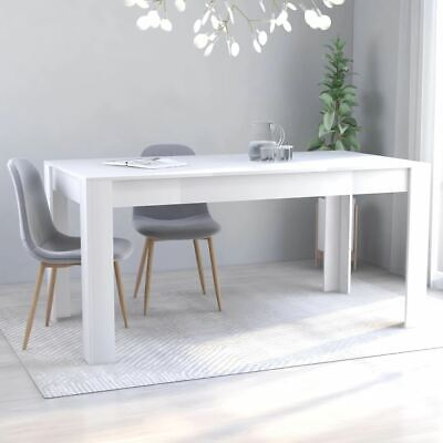 AU148.95 • Buy White Dining Table High Quality Kitchen Room Furniture Stable Modern Style 160cm