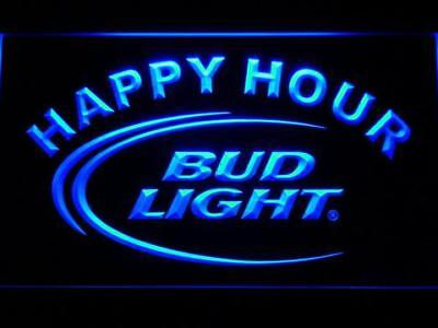 $ CDN38.14 • Buy Bud Light Beer Happy Hour Led Neon Sign For Game Room, Bar,Man Cave US Shipper