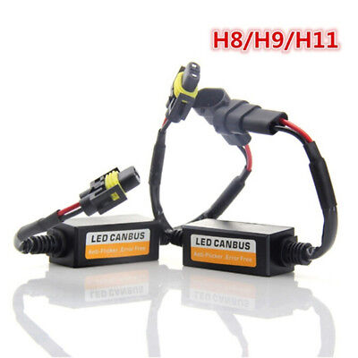AU20.85 • Buy 2x H8/H9/H11 LED Headlight Decoder Anti Flicker Resistor Canbus Error Cancell J0
