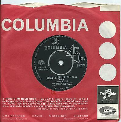 £5 • Buy Frank Ifield:Nobody's Darlin' But Me/You Don;t Have To Be A Baby To Cry:Columbia