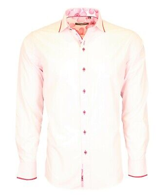 £11.99 • Buy Reduced Mens Smart Casual Cotton Shirt With Floral Contrast & Piping From £11.99
