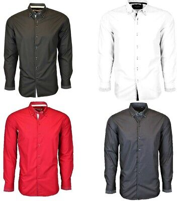 £11.99 • Buy Reduced: Mens Smart Casual Double Colllar Shirt Polka Dot Contrast From £11.99