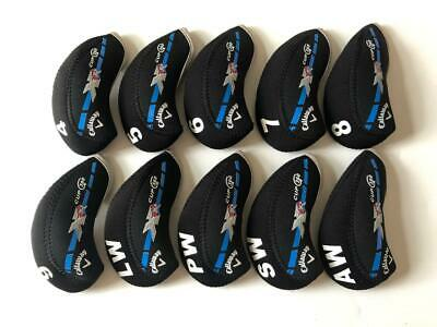AU18.26 • Buy 10PCS Golf Iron Covers RH For Callaway XR Cup 360 Club Headcovers Black Blue