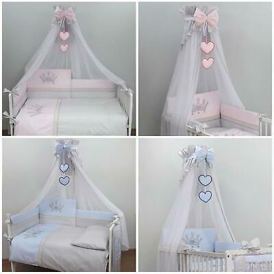 £20.79 • Buy Mosquito Netting Canopy Drape Fits Crib, Moses Basket - Crown Blue Pink