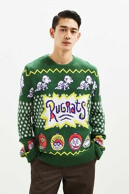 $44.99 • Buy Rugrats Christmas Sweater Mens XL Nickelodeon Pullover Knit SOLD OUT!