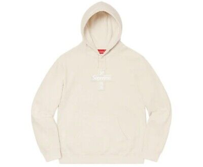 $ CDN441.90 • Buy Supreme Cross Box Logo Hoodie Natural Size Large *IN HAND*