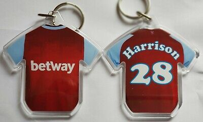 £2.60 • Buy West  Ham United FC 20/21 Styled Personalised Keyring With Extras