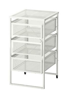£29.98 • Buy Ikea Computer Table And Chair Drawer Unit Pc Laptop  Papers Storage Unit White